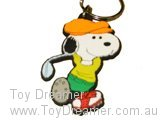 Keyring - Snoopy Playing Golf