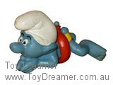 Swimmer Smurf - Red Ring / Mouth Showing
